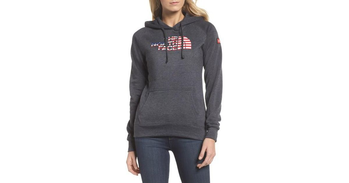 1b4a688c2 The North Face Gray International Collection Usa Pullover Hoodie