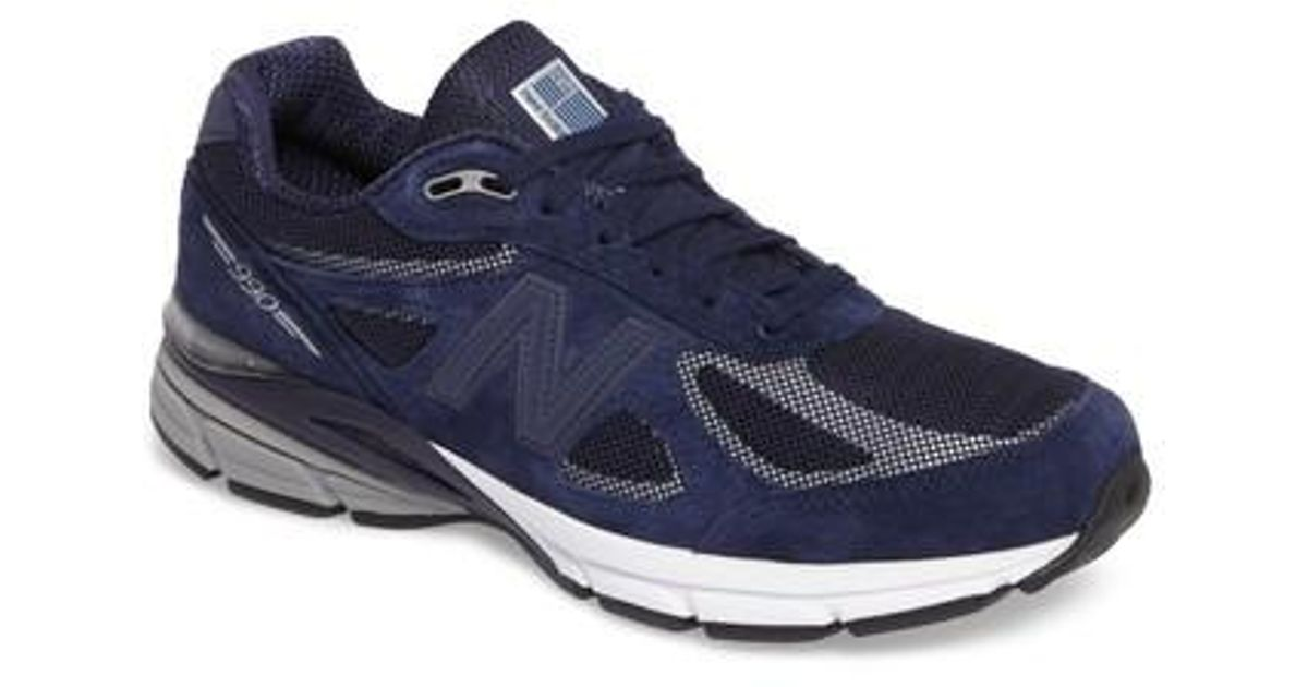buy cheap ae8e4 0805b New Balance Blue Reflective 990v4 Running Shoe for men