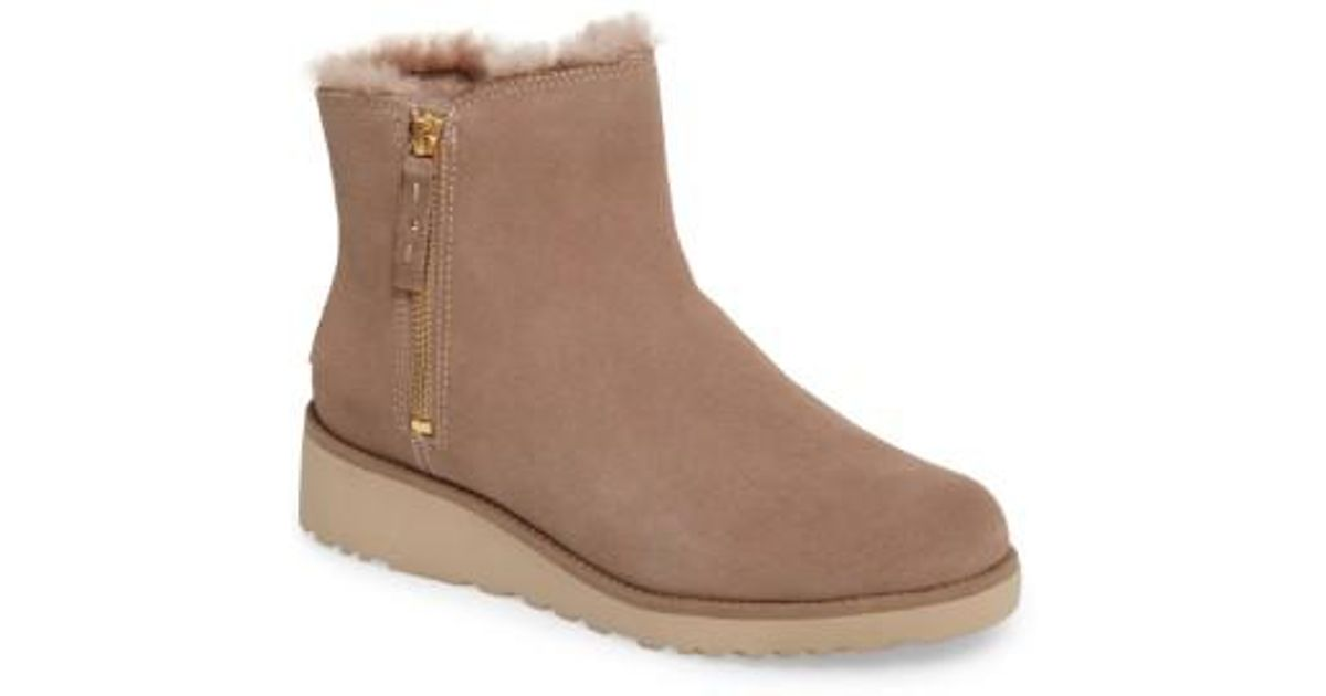 b892cd9363f Lyst - UGG Ugg Shala Wedge Boot in Brown