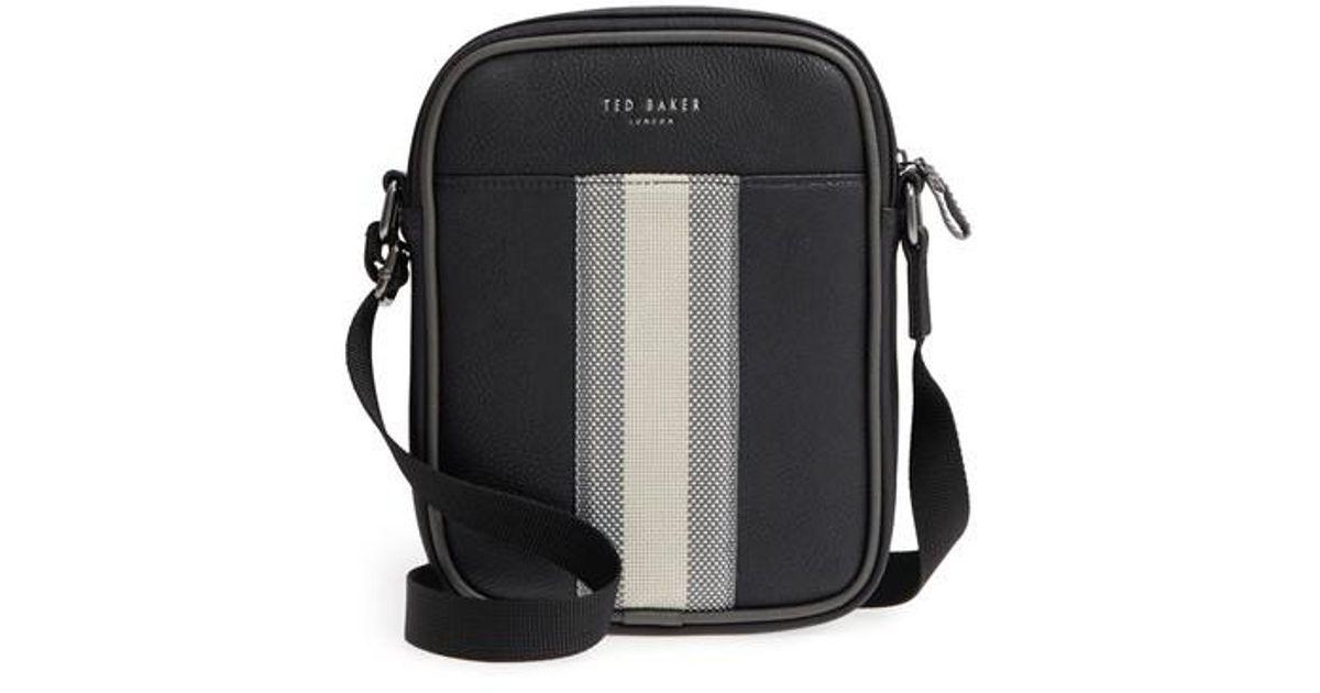 f7f789787e8e Lyst - Ted Baker Webbing Mini Flight Bag - in Black for Men
