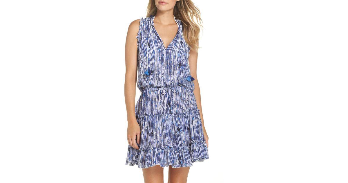 07643f02b6e6 Lyst - Poupette Poupette St. Barth Clara Cover-up Dress in Blue