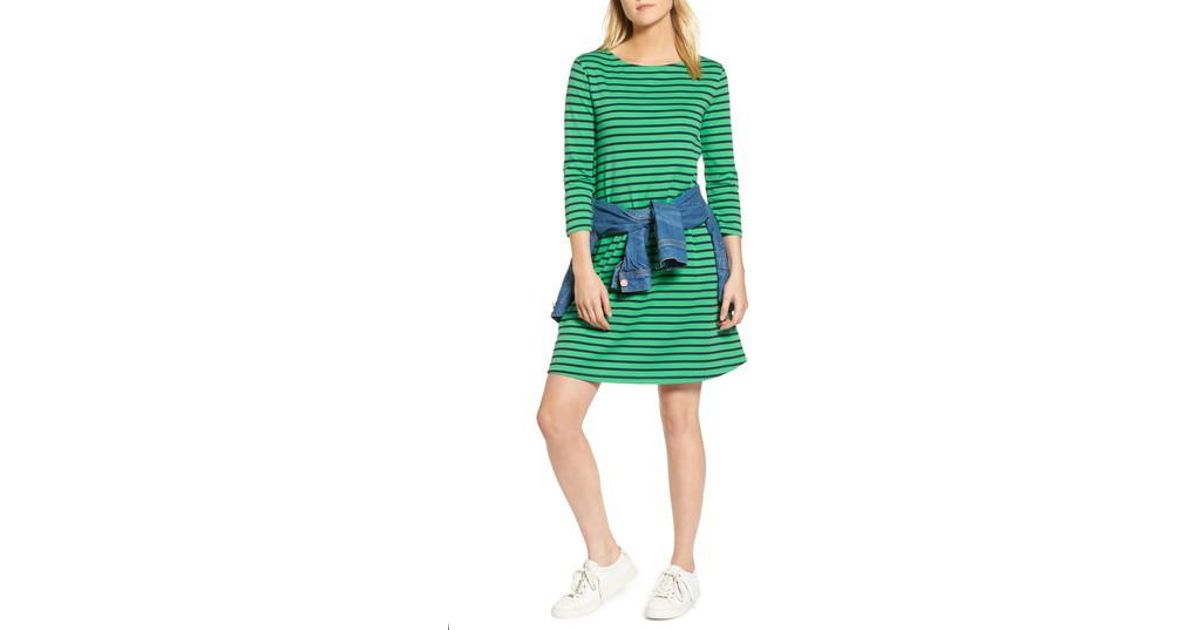 9fd7578029 Lyst - Nordstrom 1901 Tie Back Stripe Knit Dress in Green - Save 41%
