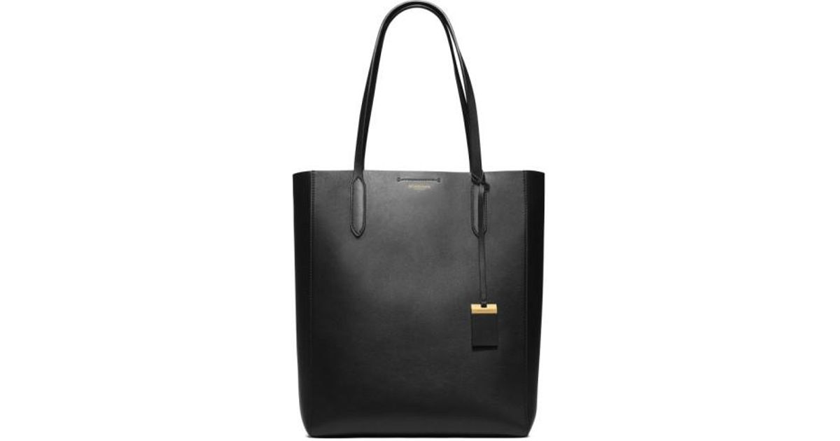 d1e9c75bfa3b Michael Kors 'large Eleanor - North South' Calfskin Leather Tote in Black -  Lyst