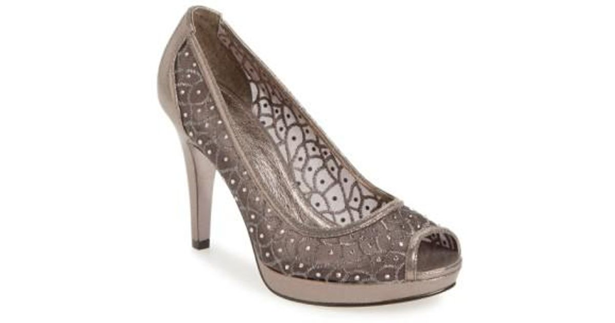 Adrianna Papell Women's 'Foxy' Crystal Embellished Peeptoe Pump