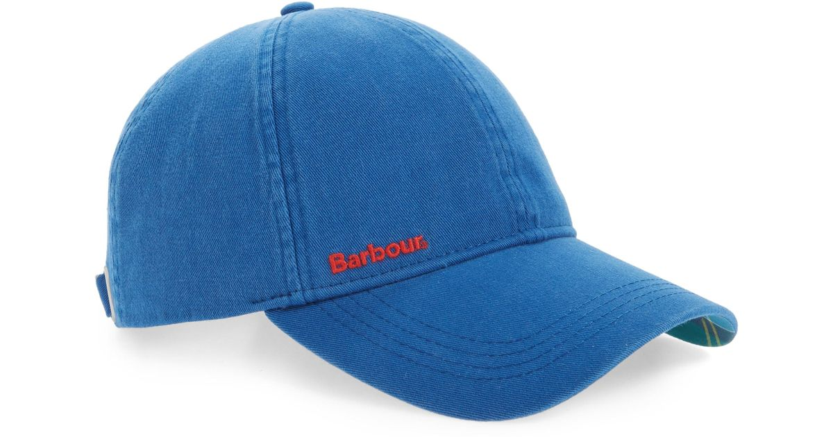 Lyst - Barbour Tartan Cascade Cap in Blue for Men ecee7a2a024f