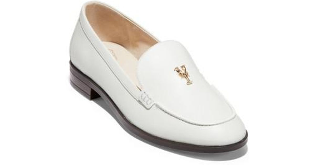 e6eff77df00 Lyst - Cole Haan Pinch Lobster Loafer in White