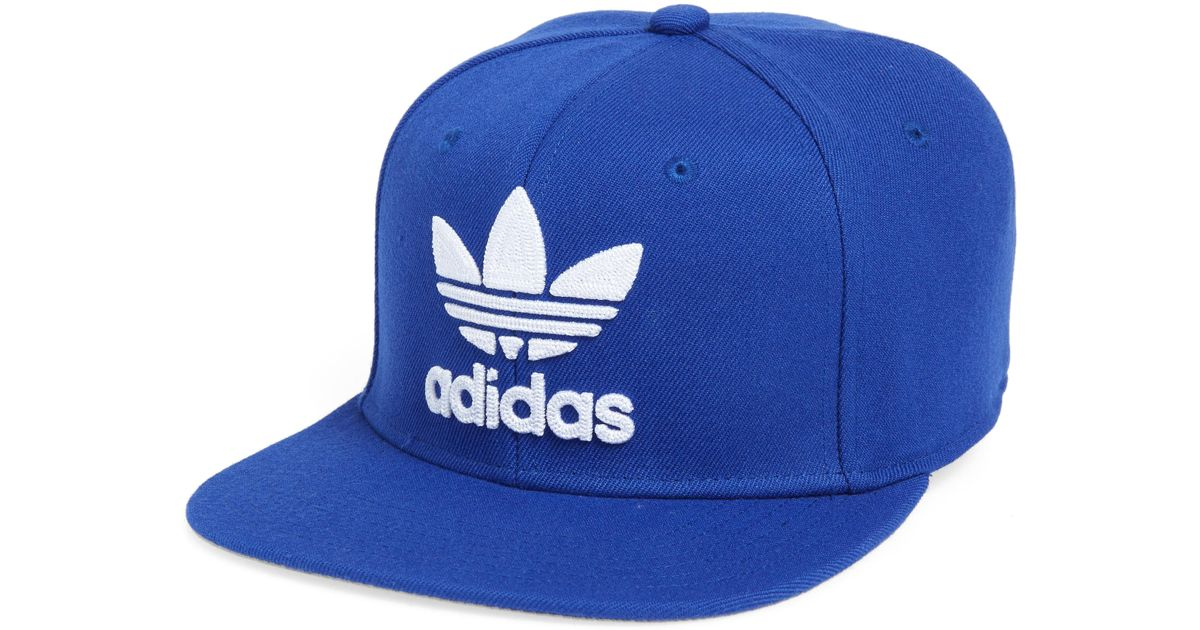 263c73139ef1d Lyst - Adidas Originals Trefoil Chain Snapback Baseball Cap in Blue for Men