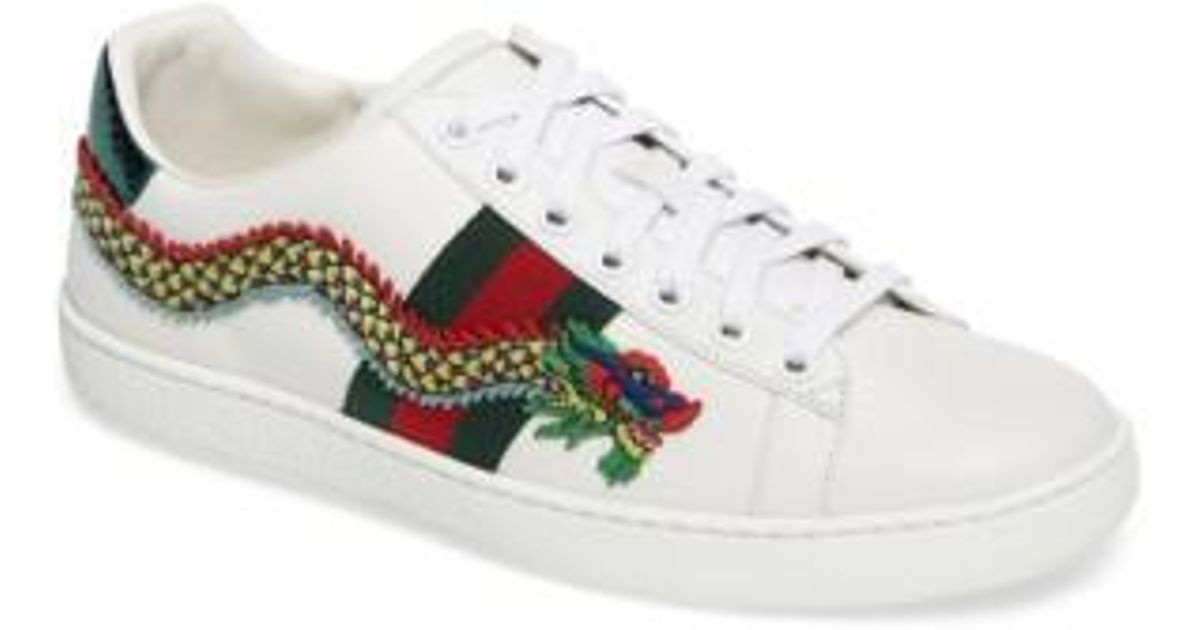 Gucci Leather New Ace Dragon Sneaker in