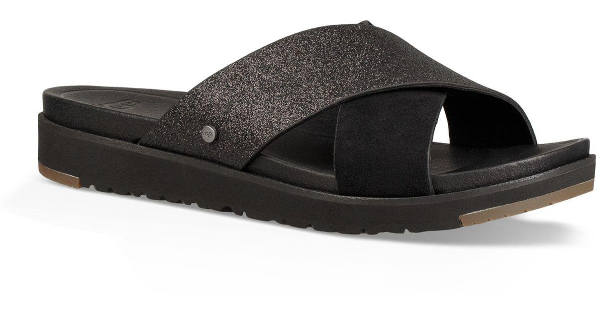UGG Ugg Kari Glitter Slide Sandal - Lyst