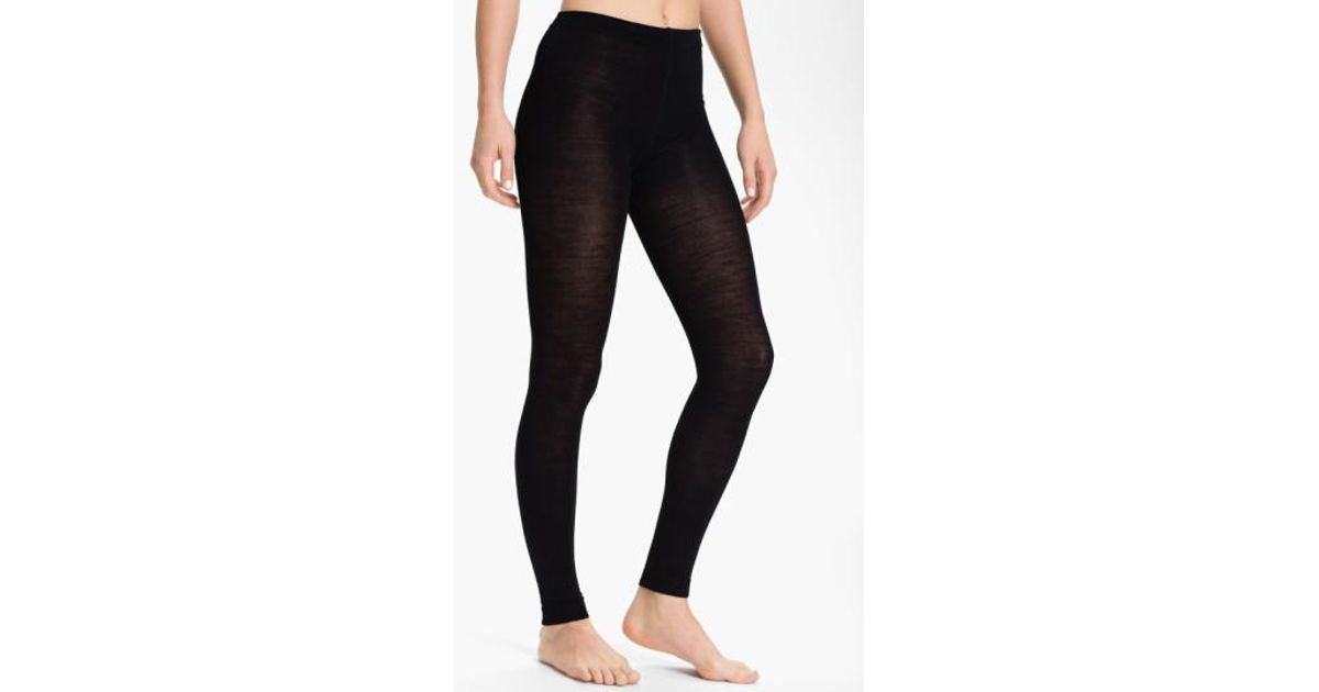 cd062cfe47d65 Lyst - Smartwool Footless Tights in Black