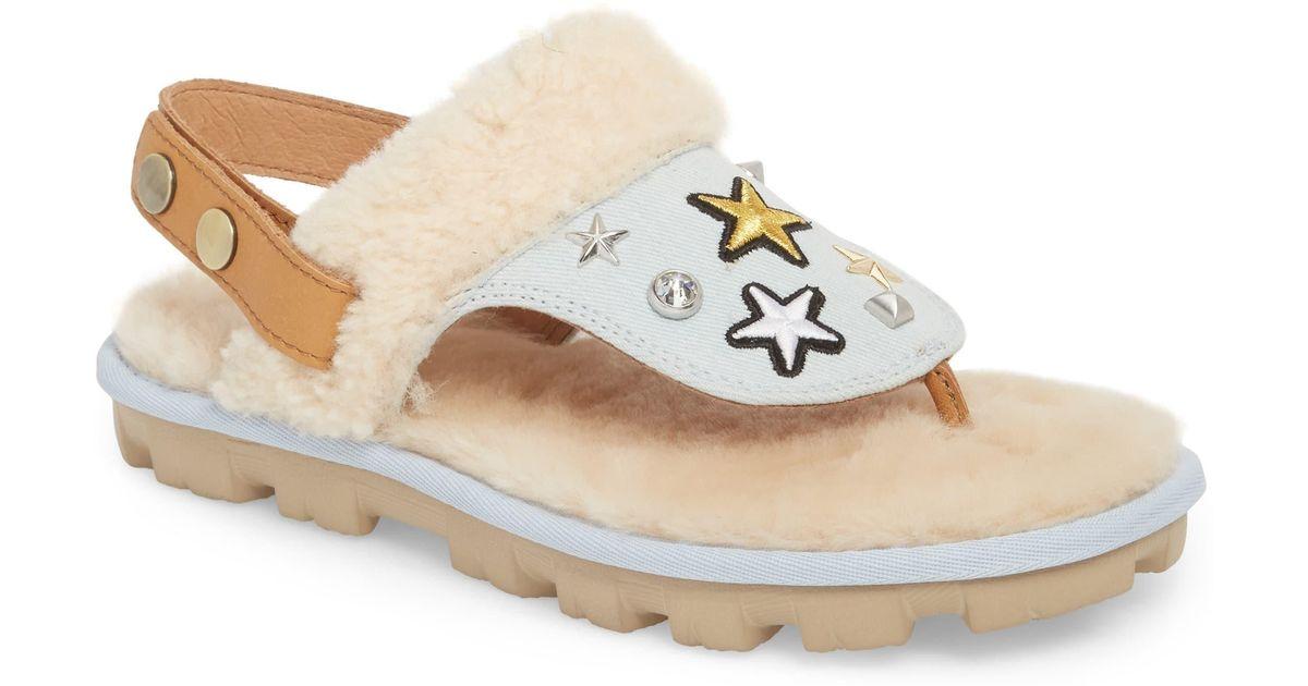 e13e5ffad5b Ugg Multicolor Ugg Patch It Slingback Sandal With Genuine Shearling Trim