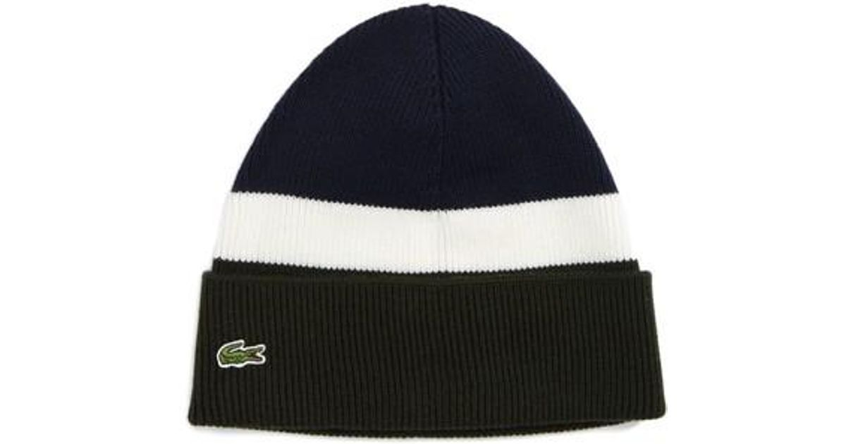 60dc0e976bc4d Lyst - Lacoste Wool Beanie in Blue for Men