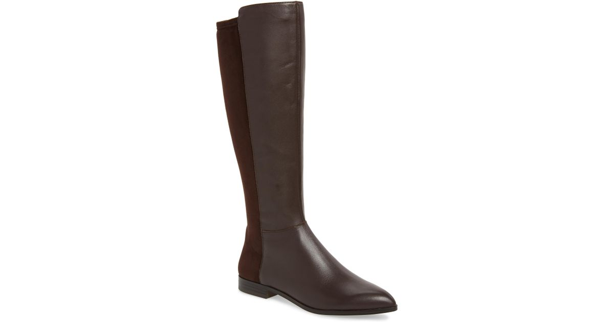 996a8ac0c915 Lyst - Nine West Owenford Knee High Riding Boot in Black