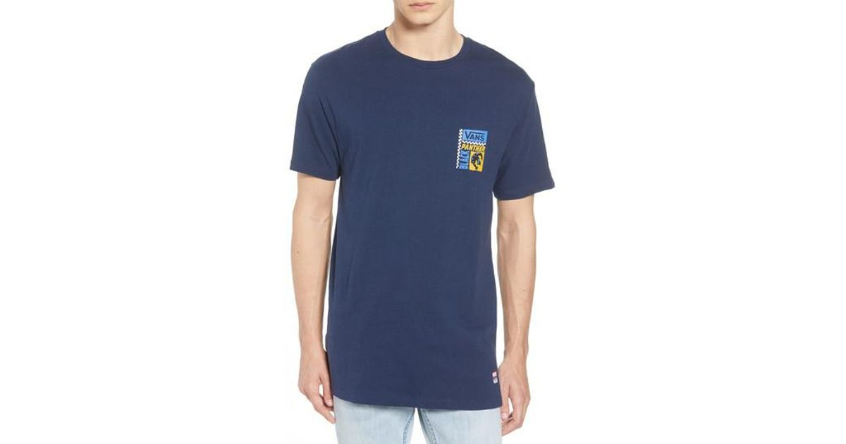 baa43e6564b Lyst - Vans X Marvel Black Panther T-shirt in Blue for Men