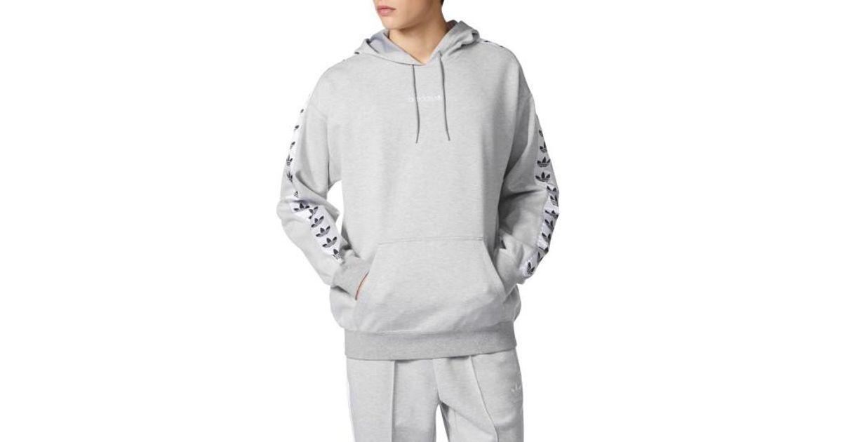 e0b4fe62dd78 Lyst - adidas Originals Tnt Logo Tape Pullover Hoodie in Gray for Men