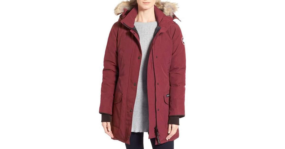 ... authorized site 68aa7 69015 Lyst - Canada Goose trillium Regular Fit  Down Parka With Genuine Coyote ... 0024a5788
