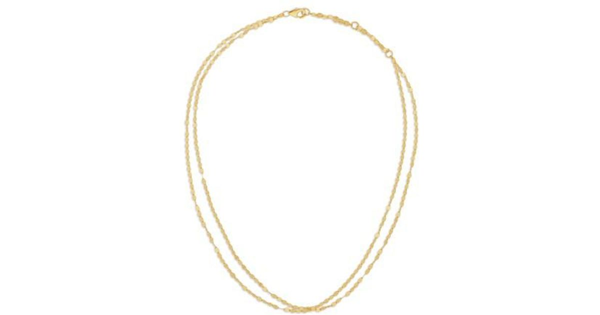 Lana Jewelry 14k Double Blake Layered Chain Necklace Hs9DDv