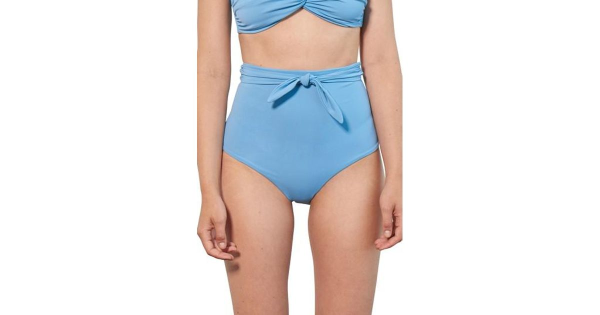 8a6a1880c607f Lyst - Mara Hoffman Jay High Waist Bikini Bottoms in Blue