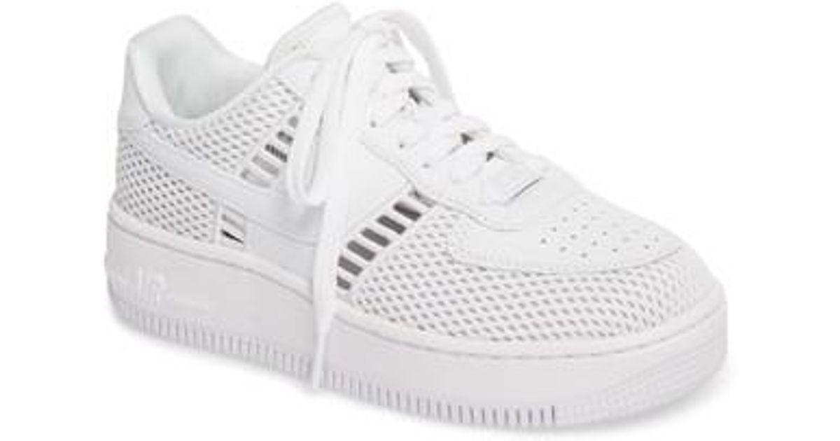 9e55bc888b6d7 Nike White Air Force 1 Upstep Si Mesh Sneaker