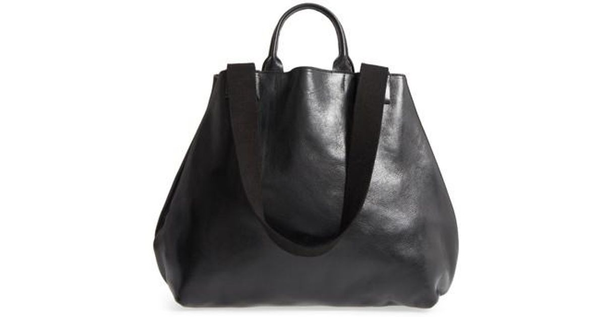 c4711c47bf2aa Lyst - Clare V. Le Big Sac Leather Tote in Black