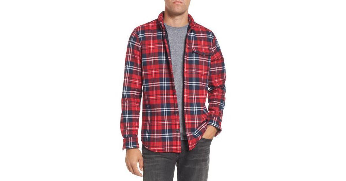 d5c4ce882f0d Barbour Hamilton Regular Fit Faux Fur Lined Shirt Jacket in Red for Men -  Lyst