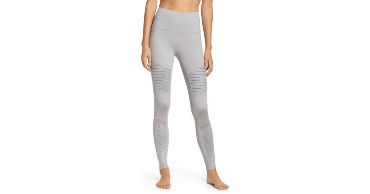 7c2bdc7429 Alo Yoga High Waist Moto Leggings - Lyst
