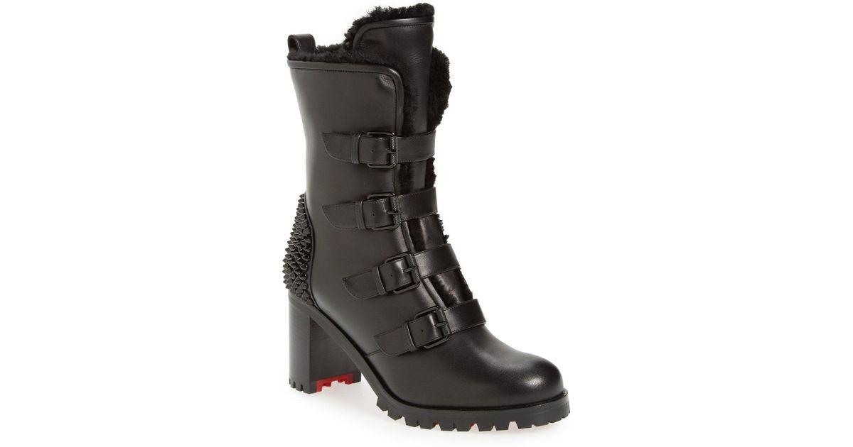 christian louboutin studded boots