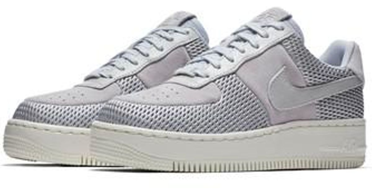 8c33009a7c2 Lyst - Nike Air Force 1 Upstep Premium Platform Sneaker in Metallic