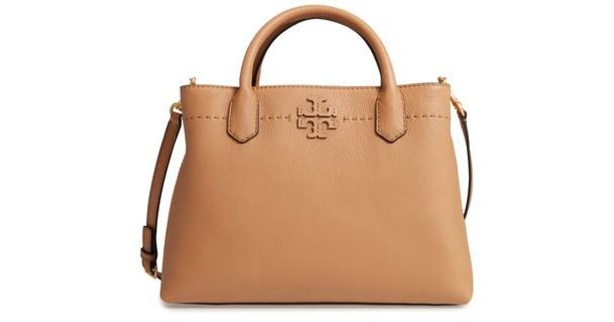 62a6c2ce6 Tory Burch Mcgraw Leather Tote in Brown - Lyst