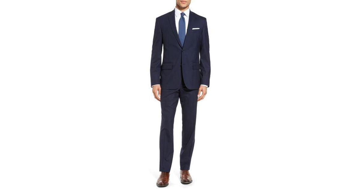 9a99039cc892 Nordstrom Tech-smart Trim Fit Solid Stretch Wool Travel Suit in Blue for Men  - Lyst