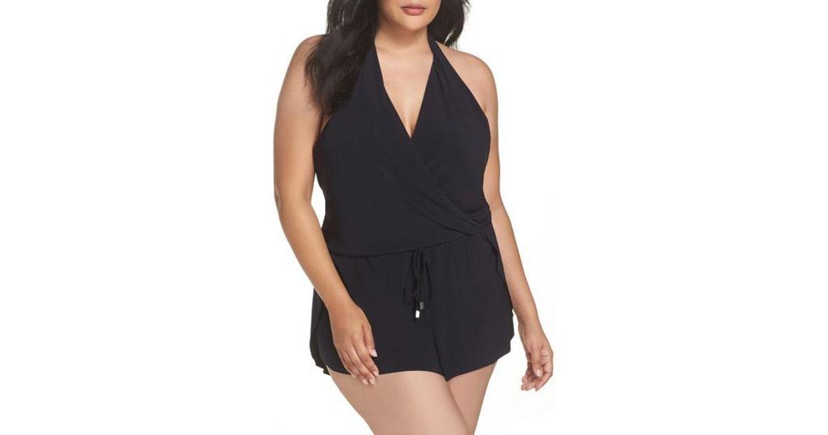965f7f3ebef Magicsuit Magicsuit Bianca One-piece Romper Swimsuit in Black - Lyst