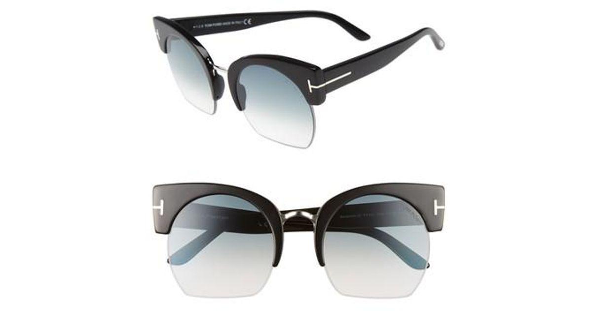 b121d4bfae62 Lyst - Tom Ford Savannah 55mm Cat Eye Sunglasses - in Black
