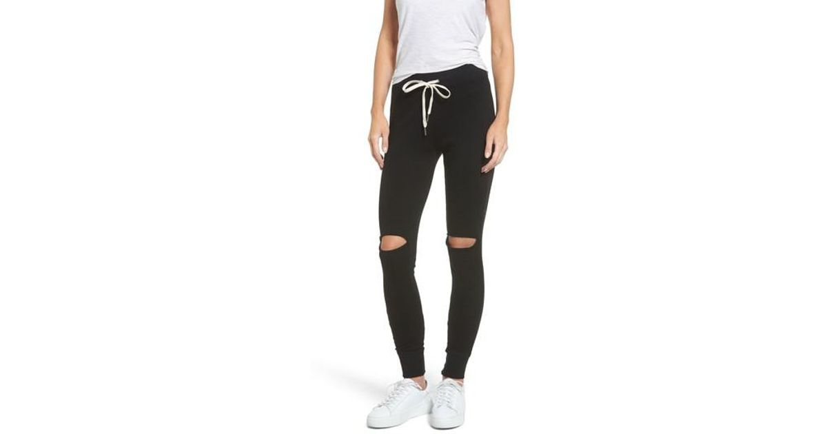ec30084f20 n:PHILANTHROPY Ruthie Shredded Jogger Pants in Black - Lyst