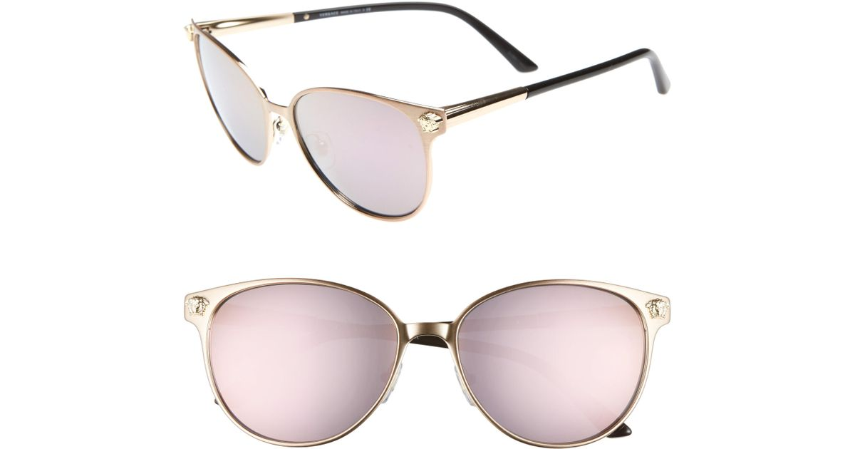 17a7fc854b Lyst - Versace Glam Medusa 57mm Cat Eye Sunglasses in Pink