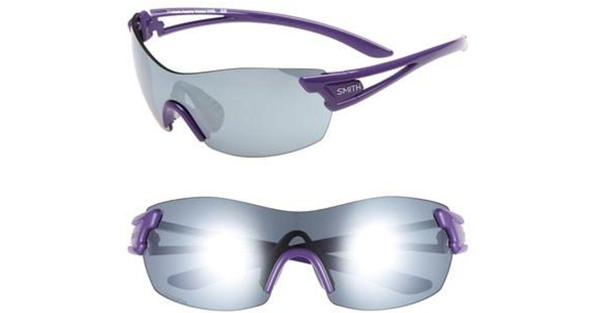 6fd24543b08e7 Lyst - Smith Pivlock(tm) Asana 150mm Chromapop Polarized Sunglasses -  Violet in Purple