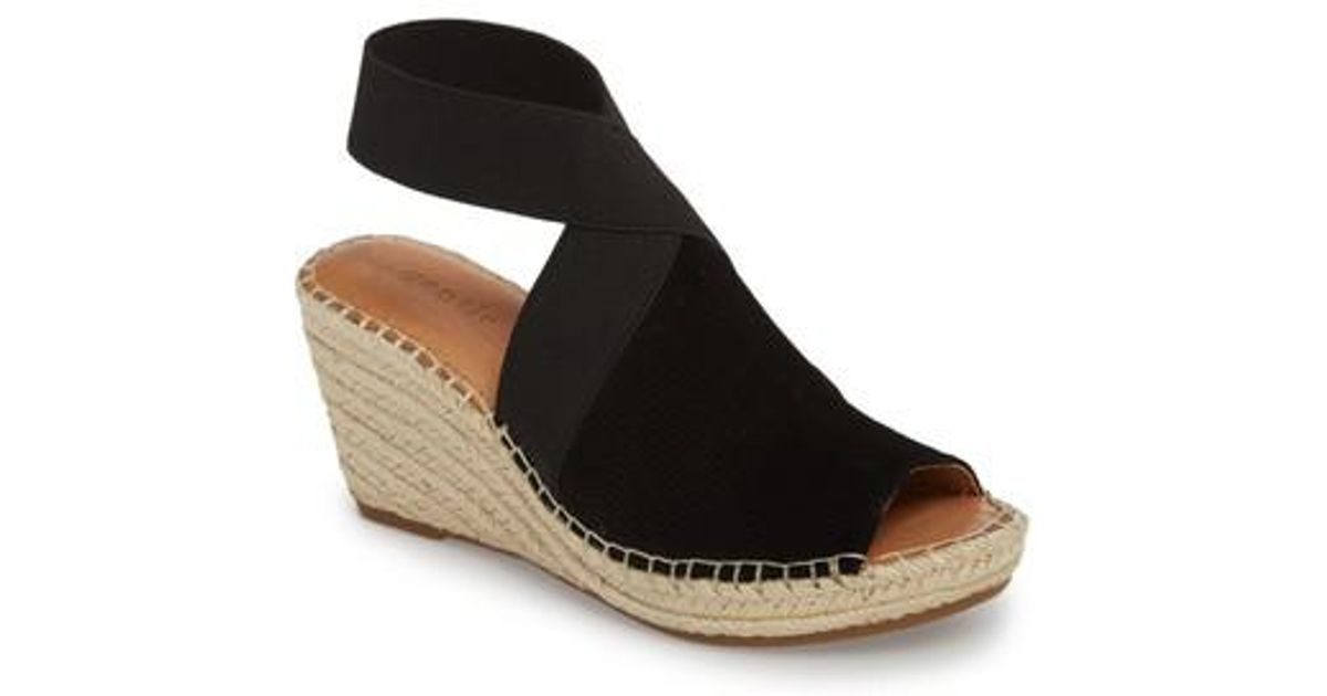 a3a7614d4e5 Gentle Souls Black By Kenneth Cole Colleen Espadrille Wedge