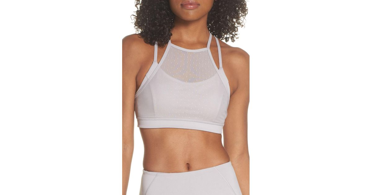 a0eac72a5a776 Lyst - Zella So Stunning Sports Bra in Gray