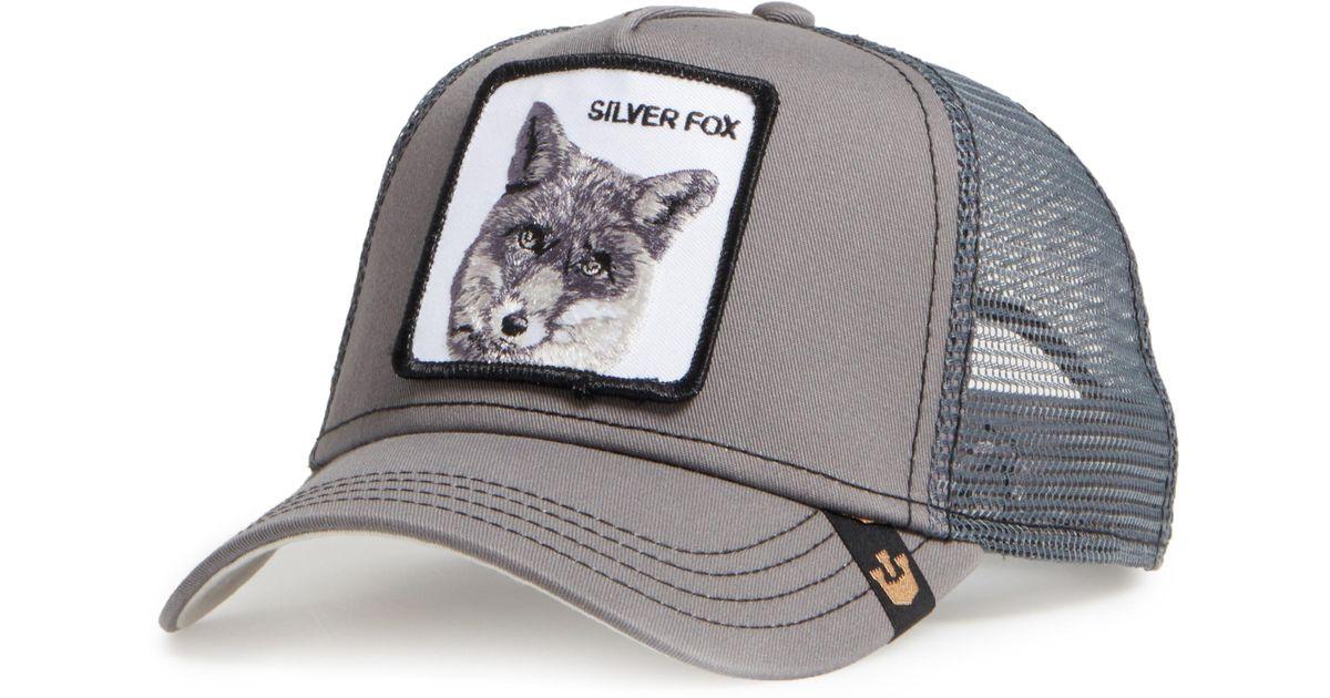 Goorin Bros  silver Fox  Trucker Hat in Gray for Men - Lyst b90f63e377d