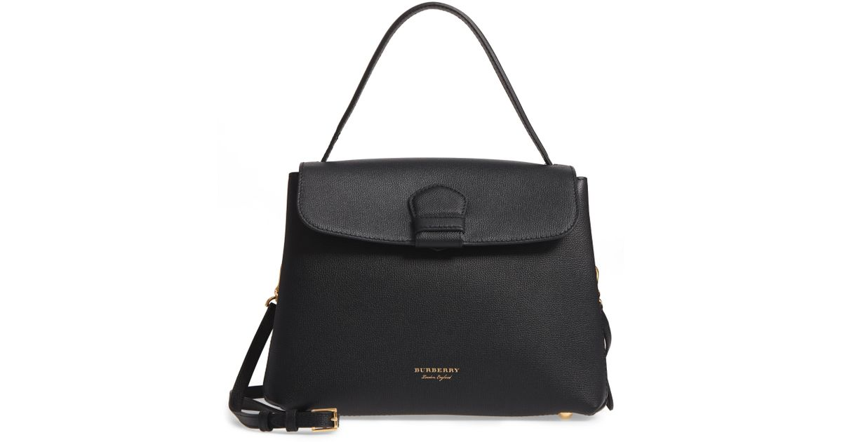 e306d338cdec Lyst - Burberry Medium Camberley Leather   House Check Top Handle Satchel  in Black