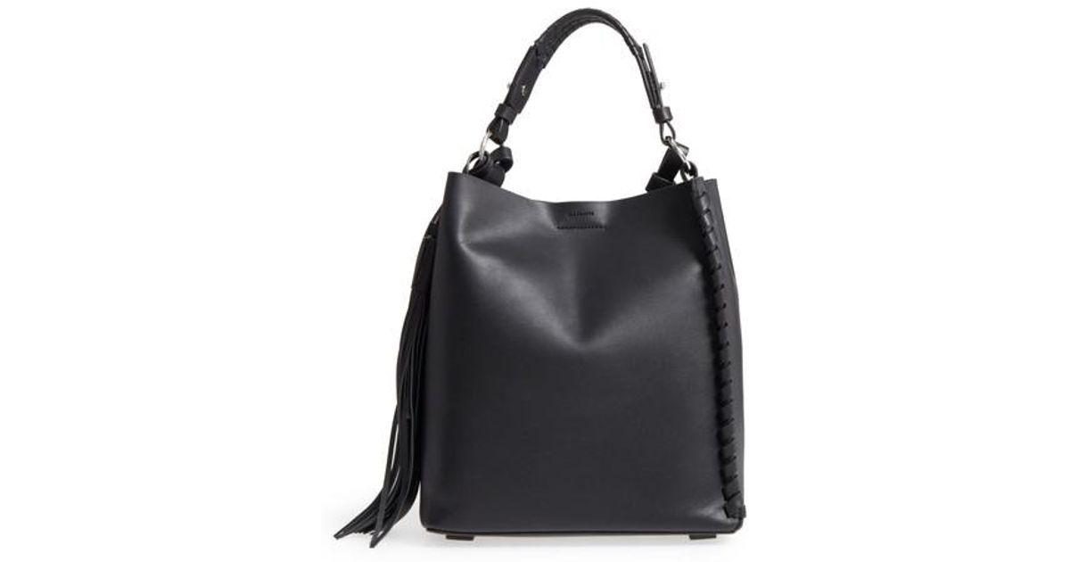 Clearance Newest AllSaints Kepi Nubuck Leather Shoulder Bag For Sale Cheap Authentic Cheap Big Discount Outlet Top Quality 02V4gLJdF