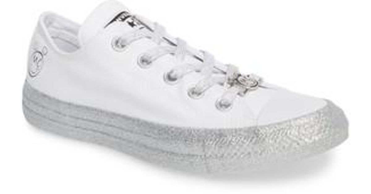 429bf2f80872ca Lyst - Converse X Miley Cyrus Chuck Taylor All Star Glitter Low Top Sneaker  (unisex) in White