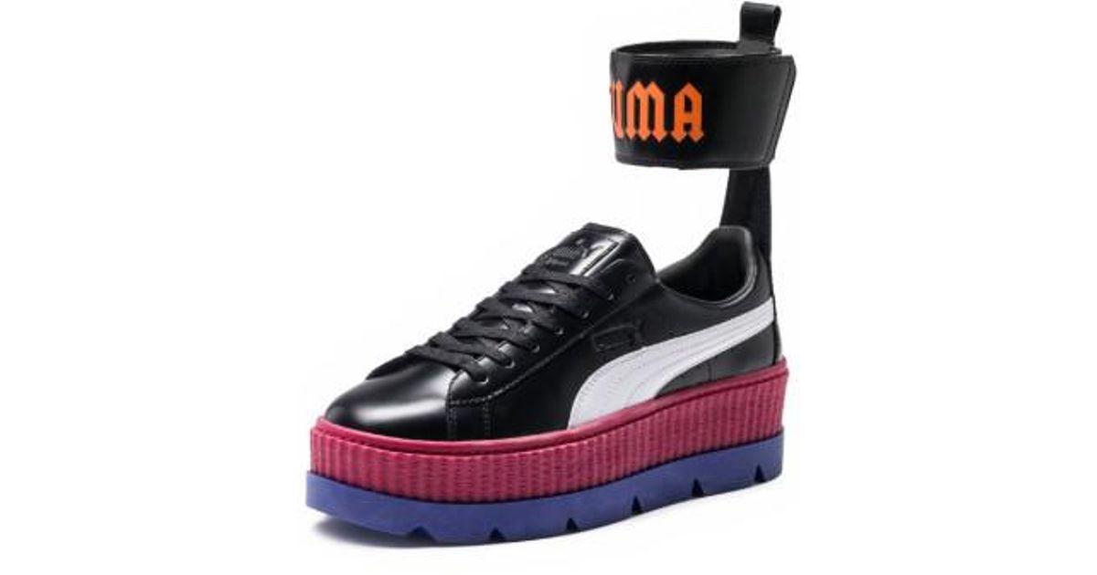 best service ca15e c71ab PUMA Black Fenty By Rihanna Ankle Strap Creeper Sneaker
