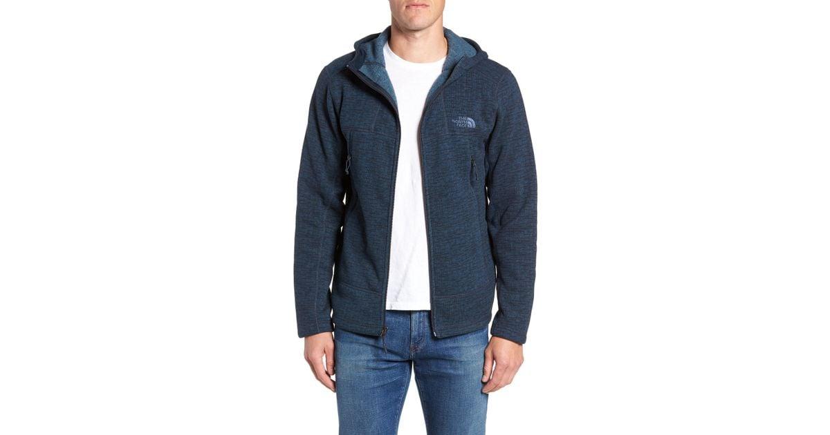 3b5ce0be9 The North Face Blue Gordon Lyons Alpine Sweater Fleece Hoodie for men