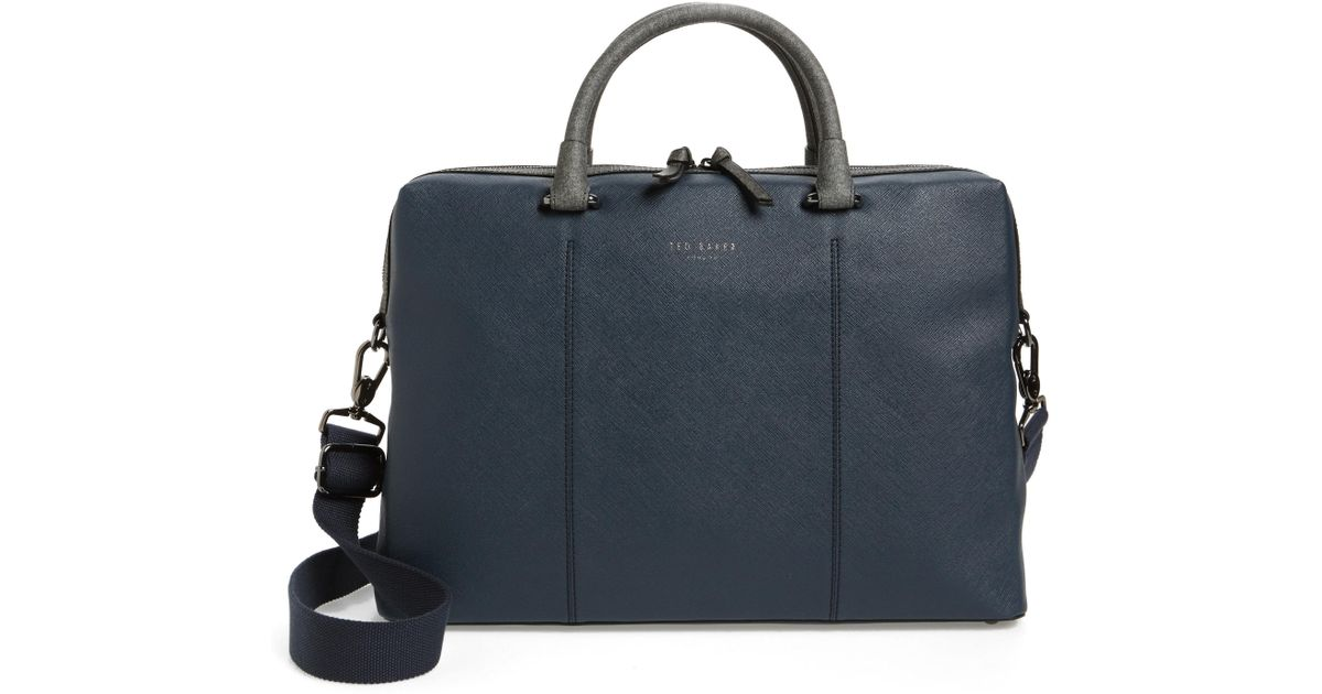 a5d051546d3d Lyst - Ted Baker Pounce Briefcase in Blue for Men