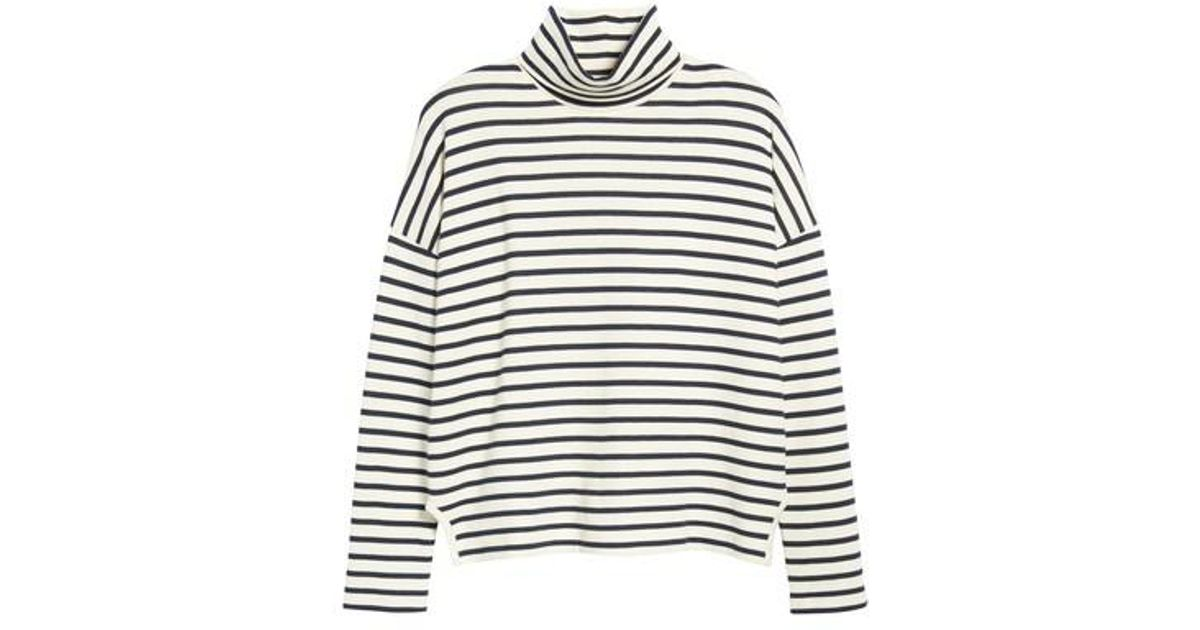 Lyst - Madewell Sailor Stripe Turtleneck Top 57d8bf2d4