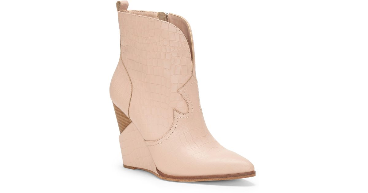 e26edc130651b1 Lyst - Jessica Simpson Hilrie Bootie in Natural