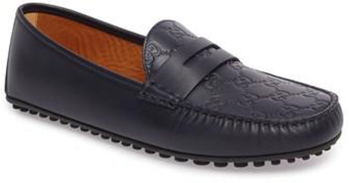0364fe438 Gucci 'kanye' Driving Shoe in Blue for Men - Lyst