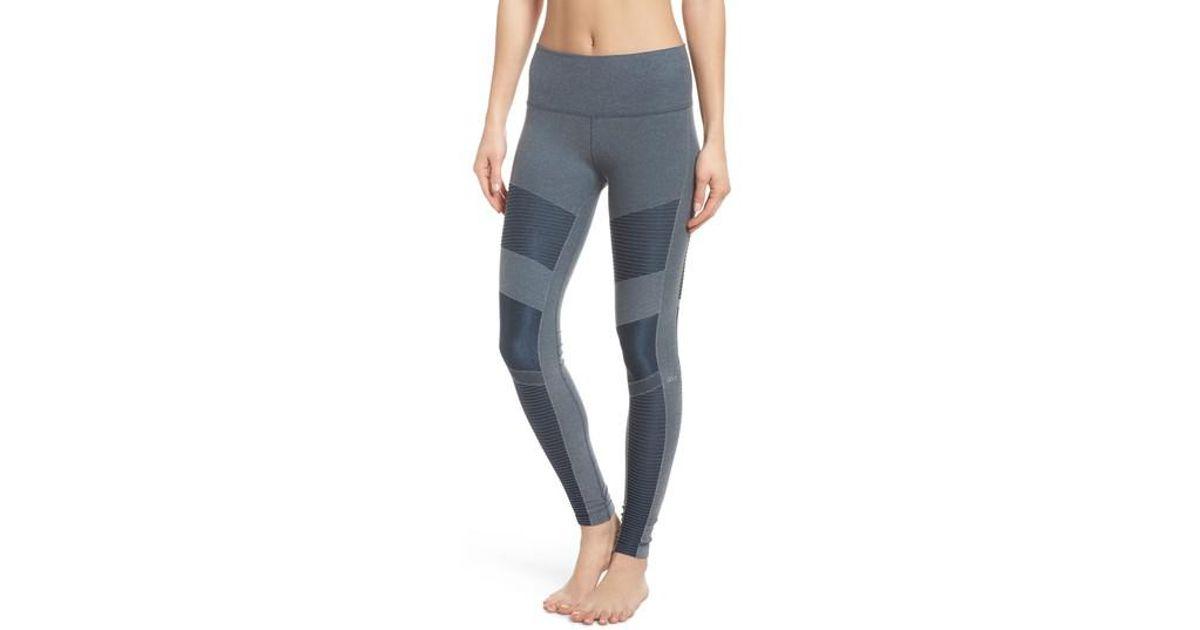b2bd70dd24 Alo Yoga High Waist Seamless Moto Leggings in Blue - Lyst