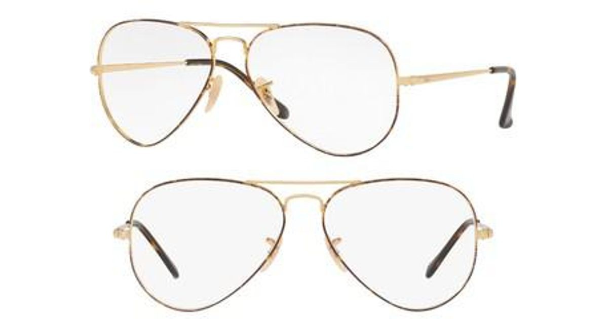 84c8b0d3d16 Lyst - Ray-Ban 6489 58mm Optical Glasses in Metallic for Men