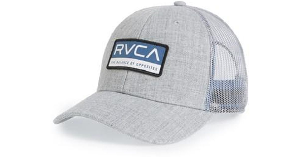 premium selection 692f3 d2a42 ... discount lyst rvca reno logo patch trucker hat in gray for men b5f6c  b328a